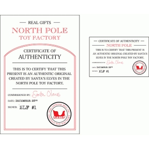 santa's certificate of authenticity