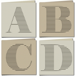 stripe monogram card abcd