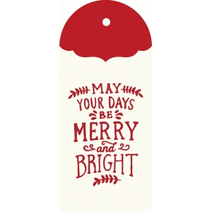 merry & bright tag
