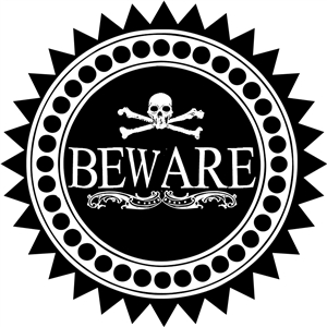 haunted beware label