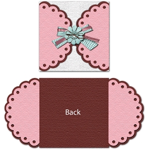 gate fold scalloped card