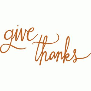 give thanks script