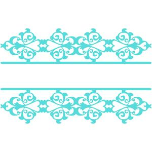 damask split border