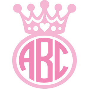 princess crown monogram