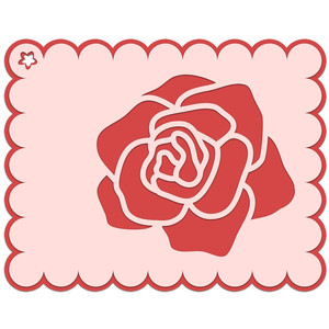 red rose gift tag
