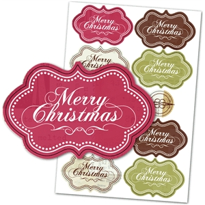 christmas set merry christmas tags