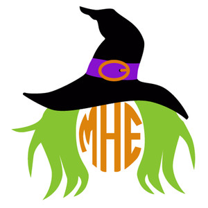 witch monogram frame