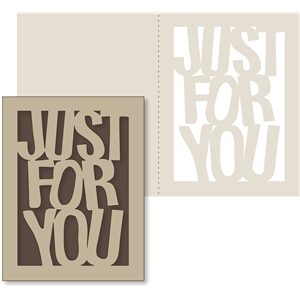 'just for you' card