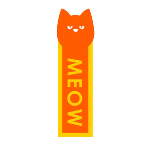cat bookmark: meow