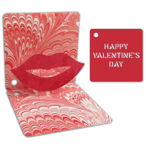 valentine pop-up gift tag
