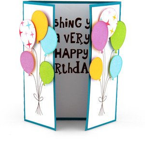 gatefold birthday balloon card