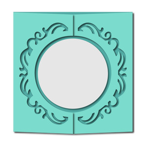 decorative circle gatefold card