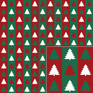 christmas tree stripe pattern