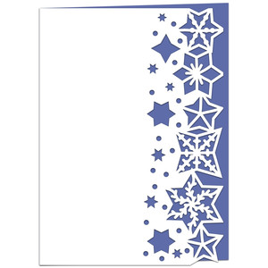 starry lace edged card