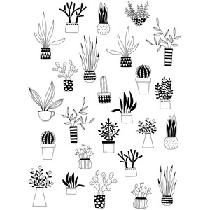 cactus and succulents stickers