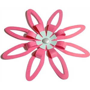 3d flower - fold and tuck