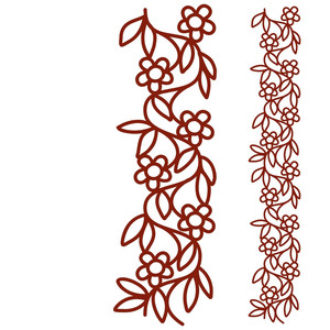 entwined flowers repeating border