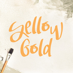 yellow gold font