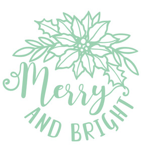 merry and bright poinsettia