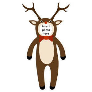 paper doll reindeer photo frame