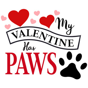 my valentine has paws