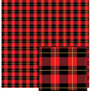 red buffalo plaid with yellow pattern