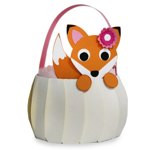 cute fox basket