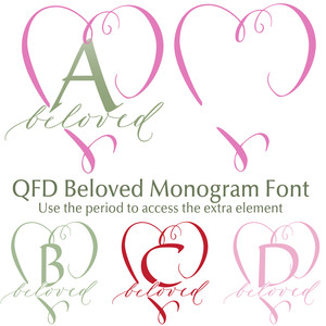 qfd beloved monogram font