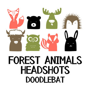 forest animals headshots doodlebat