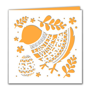 easter wishes chick card
