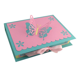 butterfly pop-up book-look box