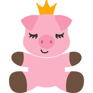pig and crown