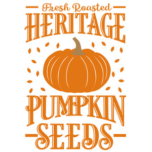heritage pumpkin seed sign