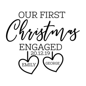 our first christmas engaged