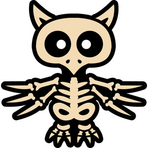 owl skeleton halloween