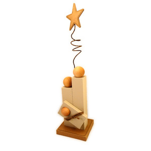 nativity 3d family blocks with star