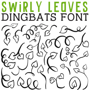 cg swirly leaves dingbats