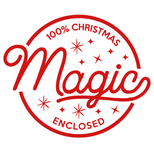 christmas magic label & tag
