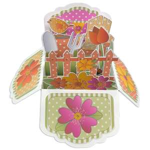 5x7 springtime flower pop up card in a box