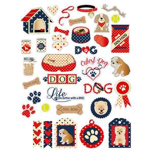 dog planner stickers and tags