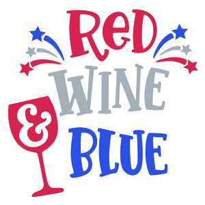 red white and blue phrase