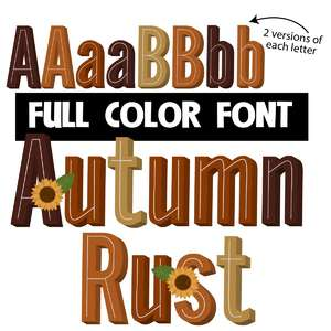 autumn rust color font