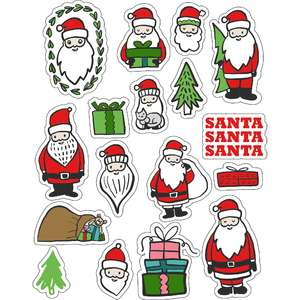 ml santa santa stickers