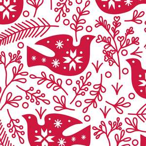 red and white dove pattern