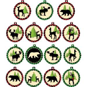 christmas in the forest gift tags