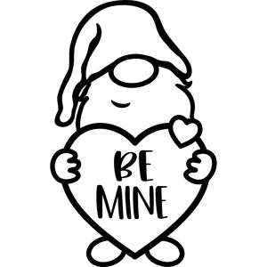be mine valentine's day gnome