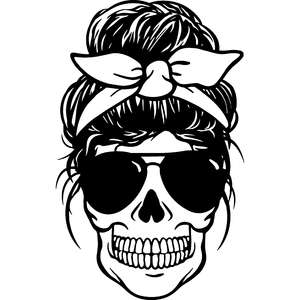 skull mom with bandana headband