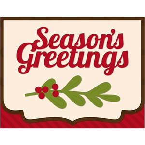 christmas season's greetings card