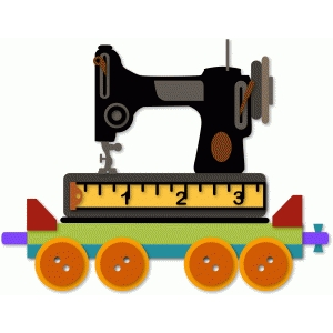 quilt train sew machine car