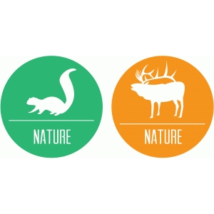 squirrel and elk nature badges